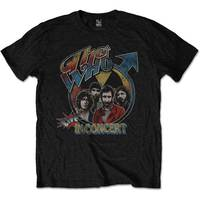 The Who - Live In Concert Men's T-Shirt - Black (Small) - Cover