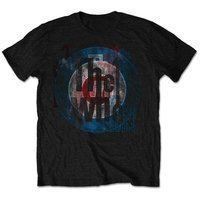 The Who - Packaged Target Texture Men's T-Shirt - Black (Medium) - Cover