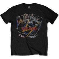 The Who - Vintage USA Tour Men's T-Shirt - Black (Small) - Cover