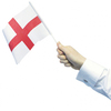 England St George Hand Flag (Pack of 4)