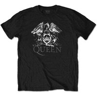 Queen Crest Logo Diamante Men's Black T-Shirt (Medium) - Cover