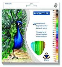 Staedtler - Pencil Crayons Full Length 24'S - Triangular Artist (Assorted) - Cover