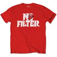 The Rolling Stones - No Filter Header Logo Men's T-Shirt - Red (Small) - Cover