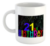 Fireworks 21St Birthday  - White Ceramic Mug
