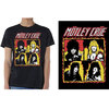 Motley Crue Shout At the Devil Flames Men's Black T-Shirt (Small)