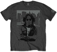 John Lennon - Skyline Men's T-Shirt - Charcoal (Large) - Cover