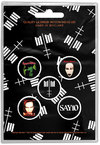 Marilyn Manson - Cross Logo Button Badge (Pack of 5)