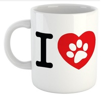 I Love My Dog - White Ceramic Mug - Cover