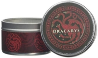Game of Thrones - House Targaryen - Clove and Cedar Scented Tin Candle Small (6cm x 4cm) - Cover