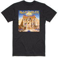 Iron Maiden - Powerslave Album Cover Box Men's Black T-Shirt (Medium) - Cover