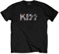 Kiss - Logo Diamante Men's Black T-Shirt (Medium) - Cover