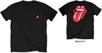 The Rolling Stones - Classic Tongue Men's Black T-Shirt (Small) - Cover