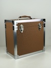 Brown - 50 LP Record Storage Carry Case (Record Box)