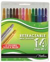 Treeline - Retractable Wax Crayons - 12 Colours + Gold and Silver (Box of 12)