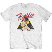 Freddie Mercury Triangle Men's Black T-Shirt (Medium) - Cover