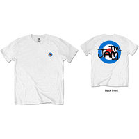 The Jam Spray Target Logo Back Print Men's White T-Shirt (XX-Large) - Cover