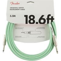 Fender Original Series 5.5m 1/4 Inch Jack Instrument Cable (Surf Green)