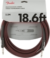 Fender Professional Series 5.5m 1/4 Inch Instrument Cable (Red Tweed)