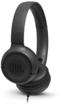 JBL Tune 500 Wired On-Ear Headphones (Black)