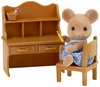 Sylvanian Families - Mouse Sister With Desk Set