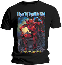 Iron Maiden - Legacy of the Beast 2 Devil Men's T-Shirt - Black (Large) - Cover