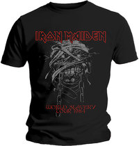 Iron Maiden - World Slavery 1984 Tour Men's T-Shirt - Black (Large) - Cover