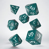 Q-Workshop - Set of 7 Polyhedral Dice - Classic RPG Stormy & White