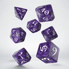 Q-Workshop - Set of 7 Polyhedral Dice - Classic RPG Lavender & White