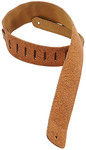 Levys DM1FF-BRN Country Western Series 2.5 Inch Garment Leather Guitar Strap with Florentine Embossing (Brown)