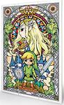 Nintendo - Zelda Stained Glass Wood Print