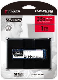 Kingston Technology - A2000 Series 1TB NVME M.2 Internal SSD with Full Security Suite
