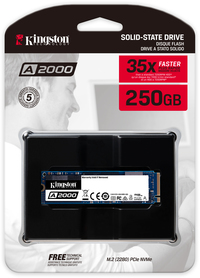 Kingston Technology - A2000 Series 250GB NVME M.2 Internal SSD with Full Security Suite