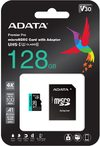Adata - Premier Pro 128GB MicroSDXC UHS-I U3 V30 Class 10 A2 MircoSD Memory Card with Adapter