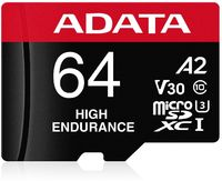 Adata - High Endurance 64GB UHS-I U3 V30 A2 Class 10 Micro SDXC Memory Card - Cover