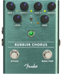 Fender Bubbler Analog Chorus Electric Guitar Effects Pedal (Green)
