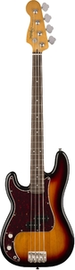 Squier Classic Vibes '60s Precision Bass Left-Handed Bass Guitar (3 Tone Sunburst)