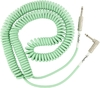 Fender Original Series 9m 1/4 Inch Jack to 1/4 Inch Angled Jack Coil Instrument Cable (Surf Green)