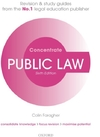 Public Law Concentrate : Law Revision and Study Guide - Colin Faragher (Paperback)