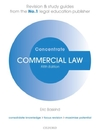 Commercial Law Concentrate : Law Revision and Study Guide - Eric Baskind (Paperback)