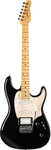 Godin Session LTD HG Maple Neck Electric Guitar with Gig Bag (Black)