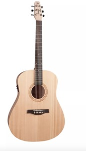 Seagull Excursion Natural Solid Spruce SG ISYS Acoustic Electric Guitar with Gig Bag (Natural)