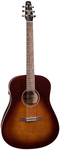 Seagull S6 Original Burnt Umber QIT Acoustic Electric Guitar with Gig Bag (Burnt Umber)