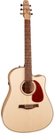 Seagull Performer CW Flame Maple QIT Acoustic Electric Guitar with Gig Bag (Natural)