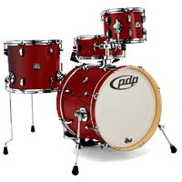 PDP New Yorker 4pc Acoustic Drum Kit - Ruby Sparkle (10 13 18 13 Inch)