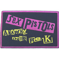 Sex Pistols - Anarchy In the Pre-UK Patch (Iron On Patch) - Cover