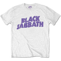 Black Sabbath - Wavy Logo Boys T-Shirt - White (1-2 Years) - Cover