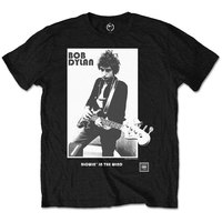 Bob Dylan - Blowing In the Wind Boys T-Shirt - Black (1-2 Years) - Cover