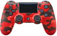 Sony - New DUALSHOCK 4 Wireless Controller V2 - Red Camouflage (PS4)