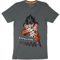 Dragon Ball Z - Kamehameha - Mens Tee - Charcoal T-Shirt (Medium)