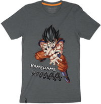 Dragon Ball Z - Kamehameha - Mens Tee - Charcoal T-Shirt (Medium) - Cover